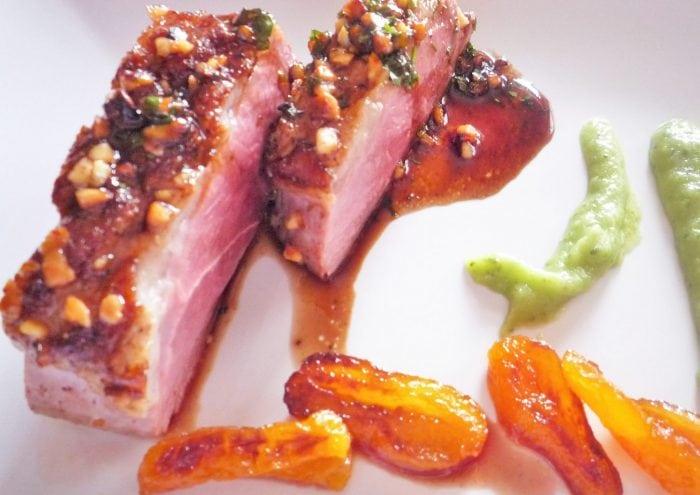 Magret de pato con vinagre balsmico y miel Receta