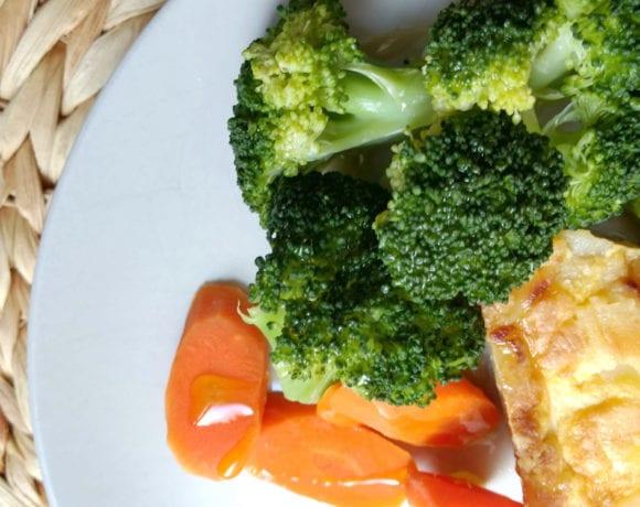 brócoli, zanahoria
