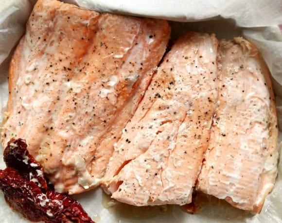 salmón al vapor en microondas