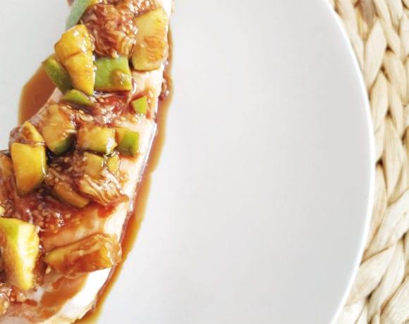 salmón con salsa de higos