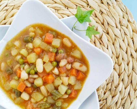 alubias con hortalizas congeladas